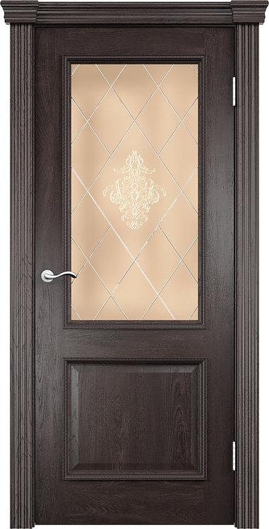 Межкомнатная дверь Лорд с/о бронза «дуб патинированный»