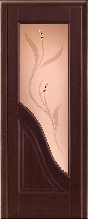 Межкомнатная дверь Ирида с/о бронза «венге»