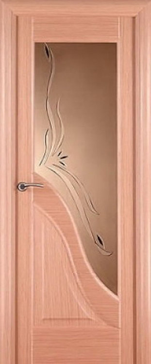 Межкомнатная дверь Ирида с/о бронза «светлый дуб»
