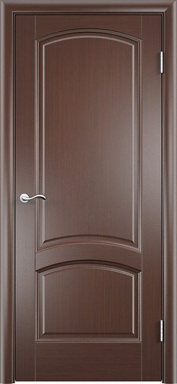 Межкомнатная дверь Криста Лайт глухое «чёрный дуб»