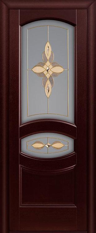 Межкомнатная дверь Ювелия с/о белое «махагон»