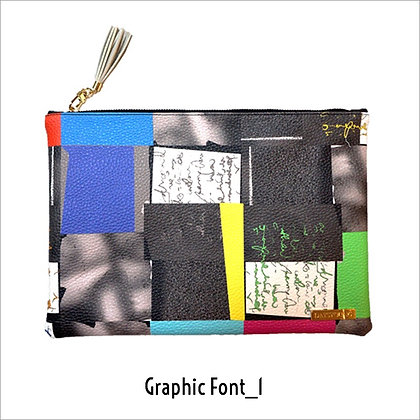 Clutch bag - graphic font