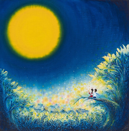 The Dreaming Girl - Moonlit Night