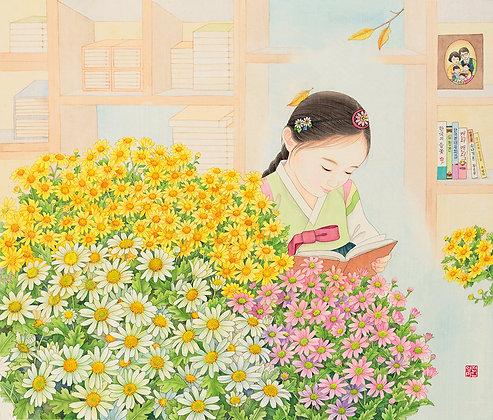 "Print - ""A Reading Girl"""