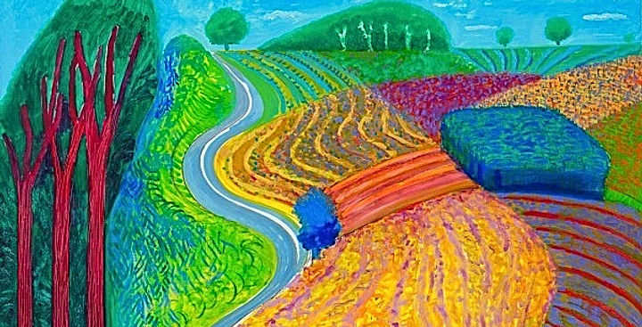 <Today's Artwork 141> -by David Hockney_image from TATE