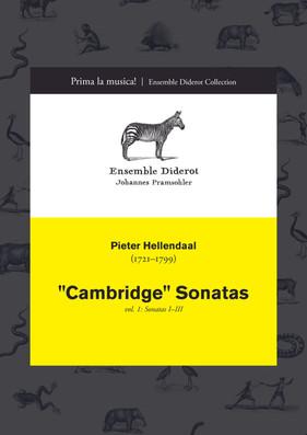 """EDC009 Hellendaal """"Cambridge"""" Sonatas Vol. 1"""