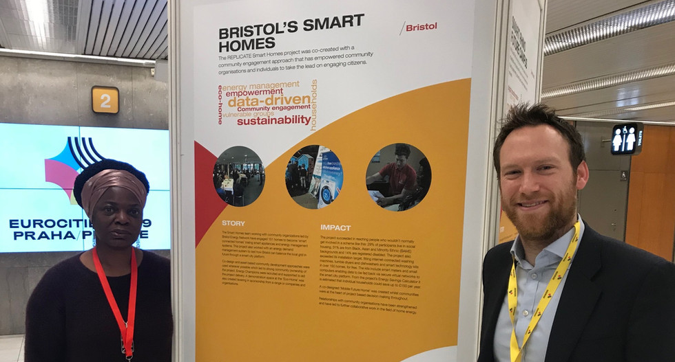Bristol's Deputy Mayor Cllr Craig and Matt Jones at EUROCITIES Annual Conference