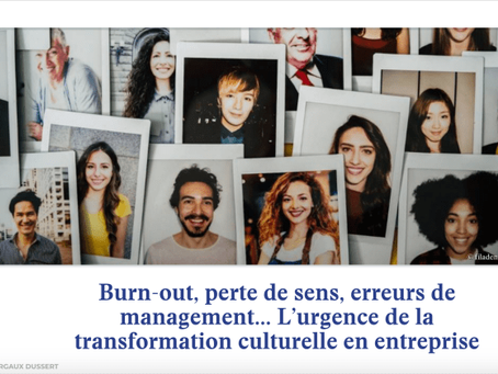 The urgency of corporate cultural transformation
