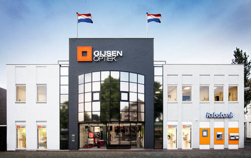 Architectuur exterieur / Special, Gijsen Optiek Tempelplein Sittard.