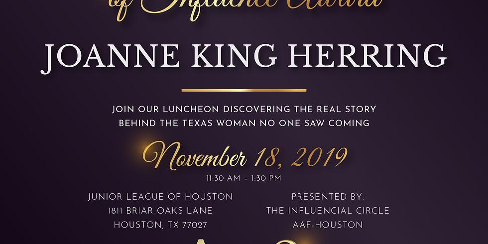 2019 Woman of Influence Award