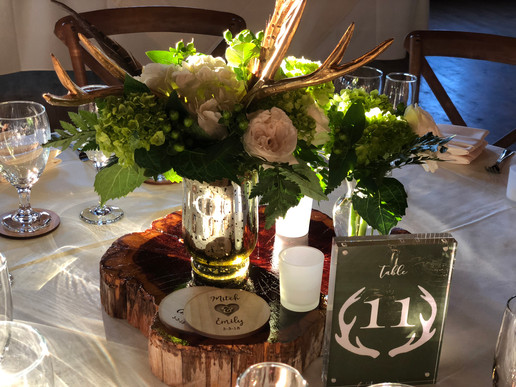 Antler Table Numbers and Coasters