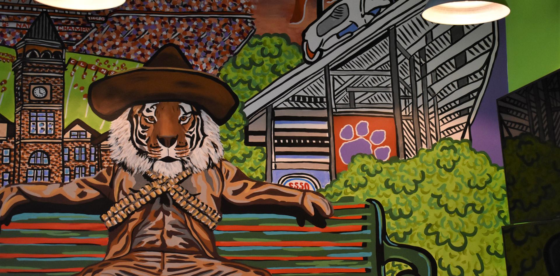 Tipsy Taco Clemson Tiger Mural