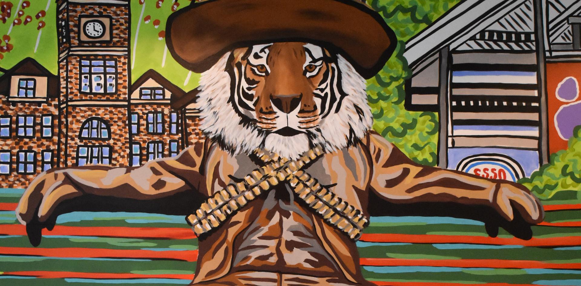 Tipst Taco Clemson Mural