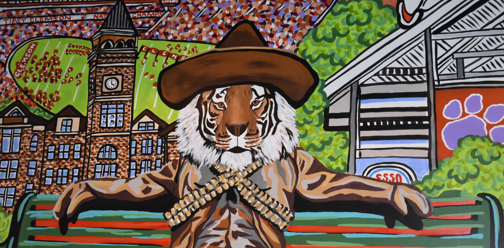 Tiger Mural - Tipsy Taco Clemson