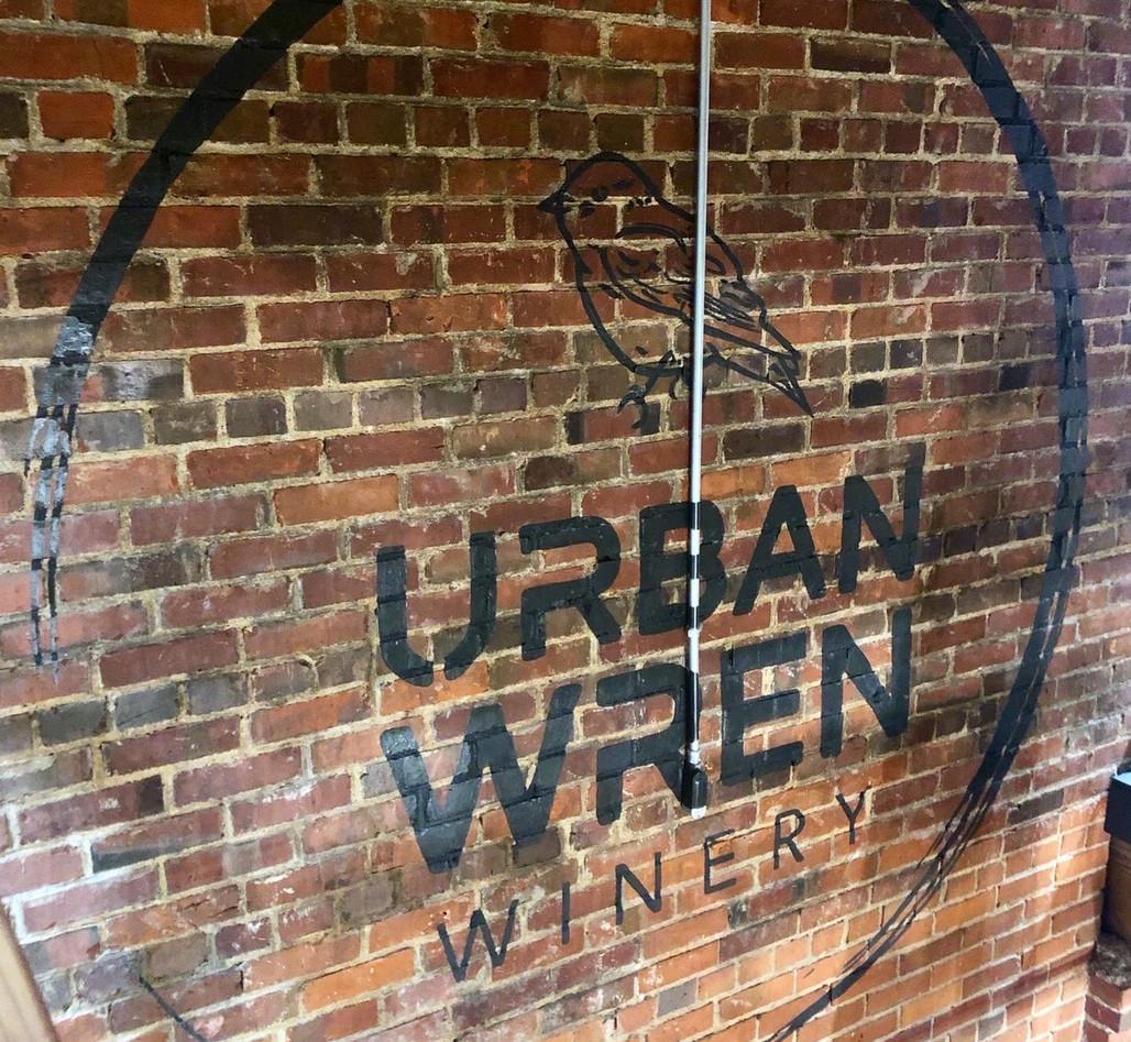 Urban Wren Winery - Hand Painted Logo4150.JPG