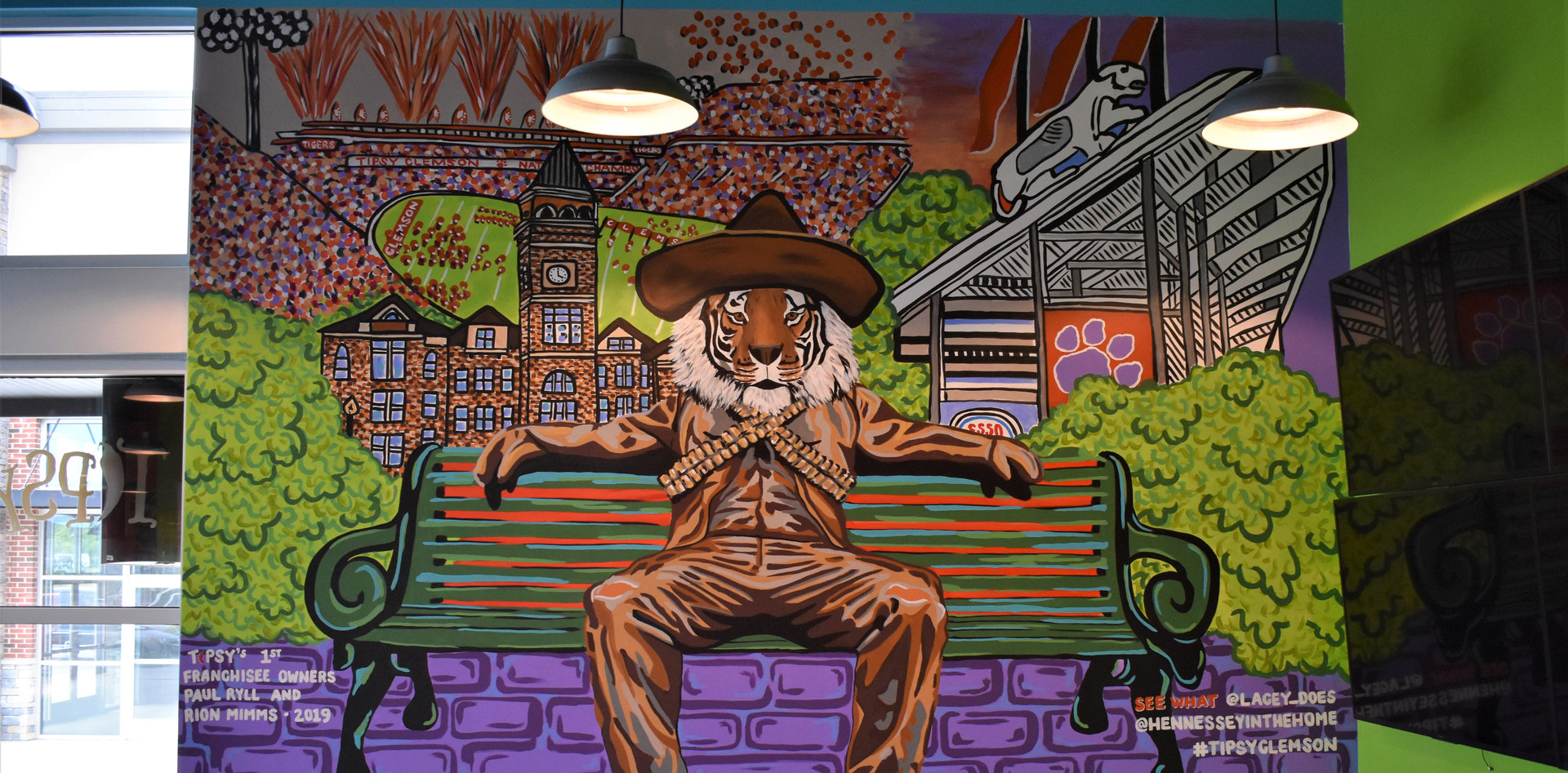Tipsy Clemson Tiger Mural