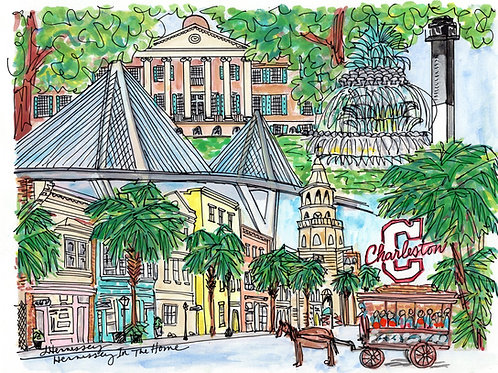 Charleston Watercolor - 8x10 Print