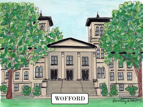 Wofford Watercolor - 8x10 Print
