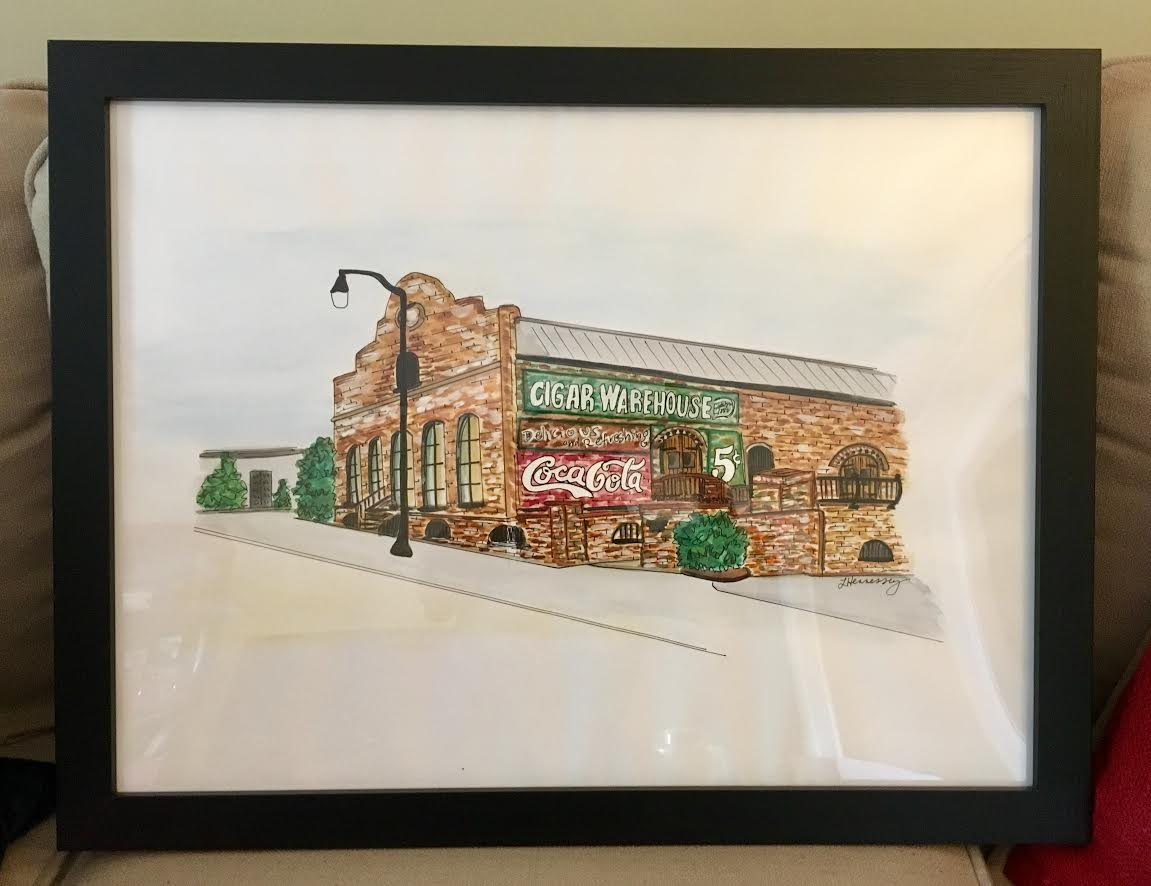 Venue watercolor for signatures