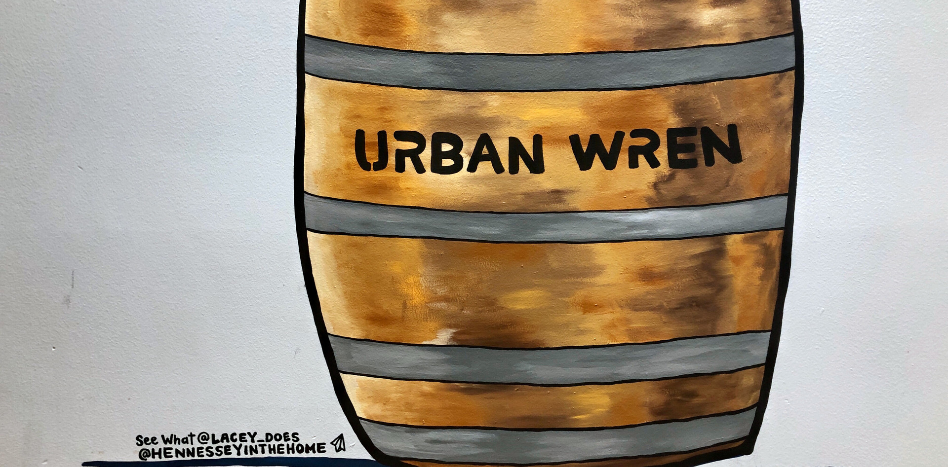 URAB WREN WINE BARREL MURAL