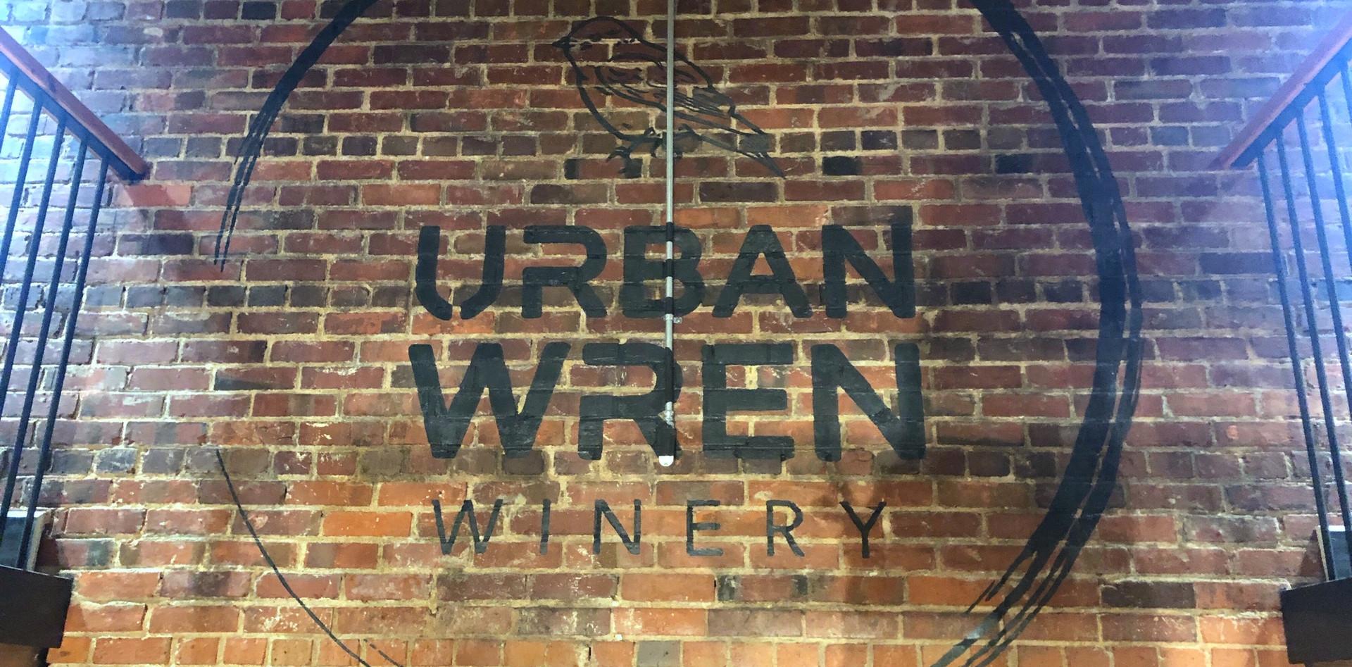 94DE529Urban Wren Winery - Hand Painted Logo