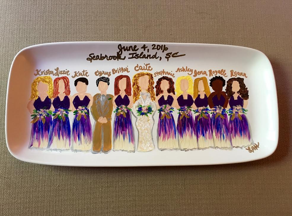bridal party plate