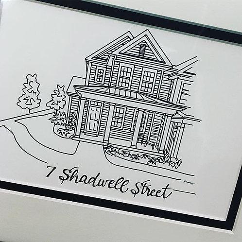 Custom Home Drawing