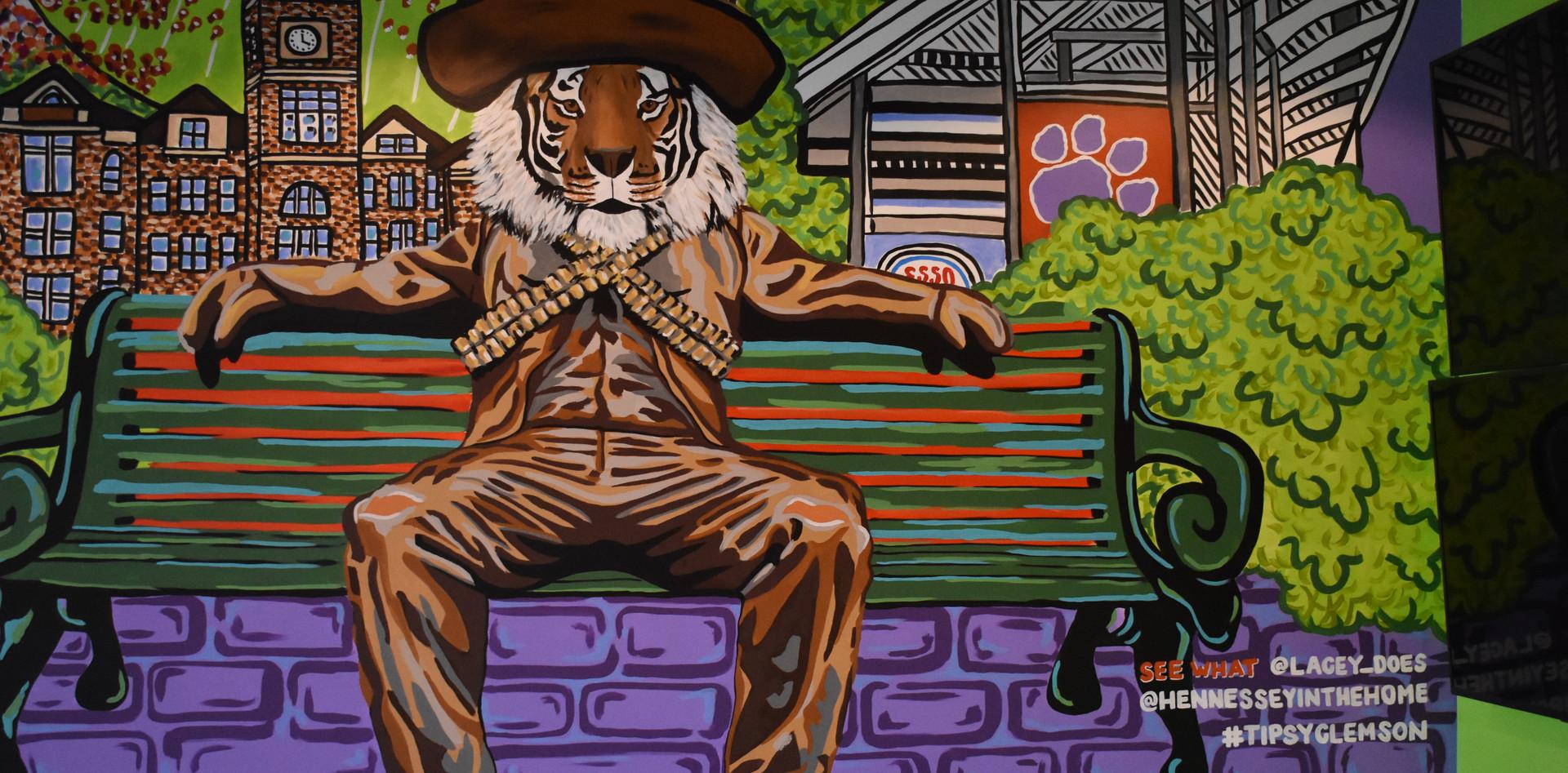 Lower Level - Tipsy Taco Clemson Mural