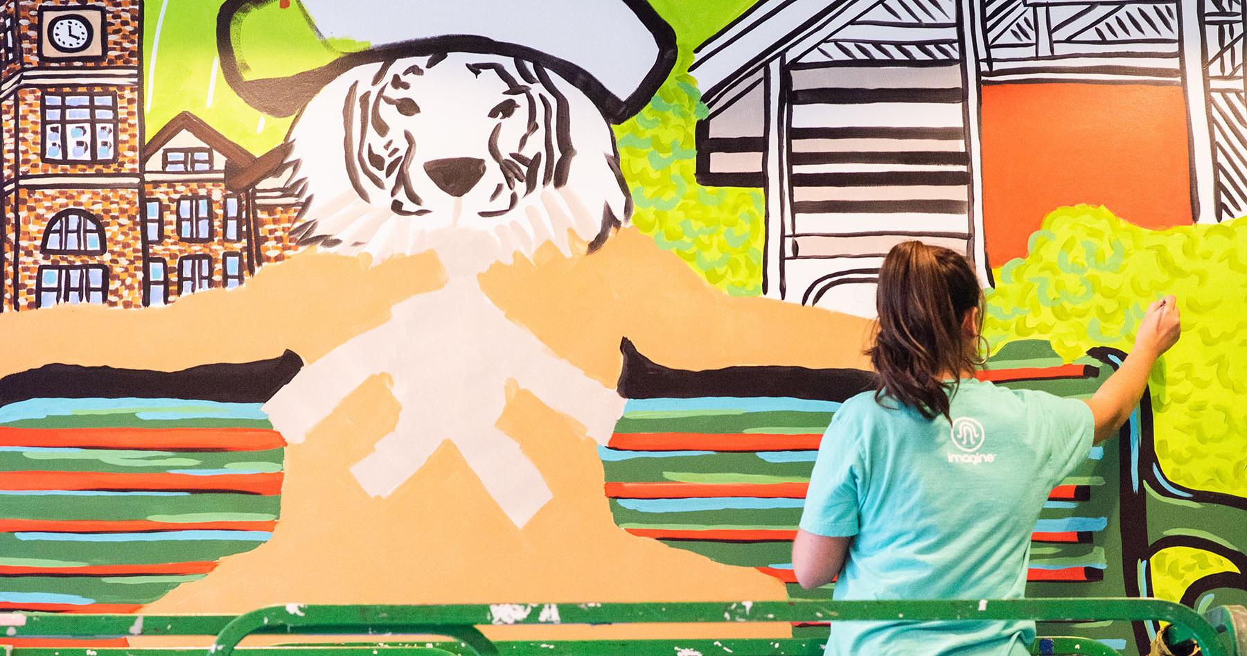 Progress Photo - Clemson Mural
