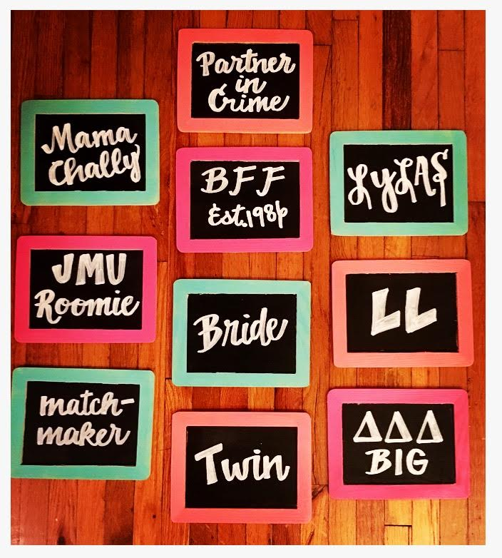 bridesmaid signs