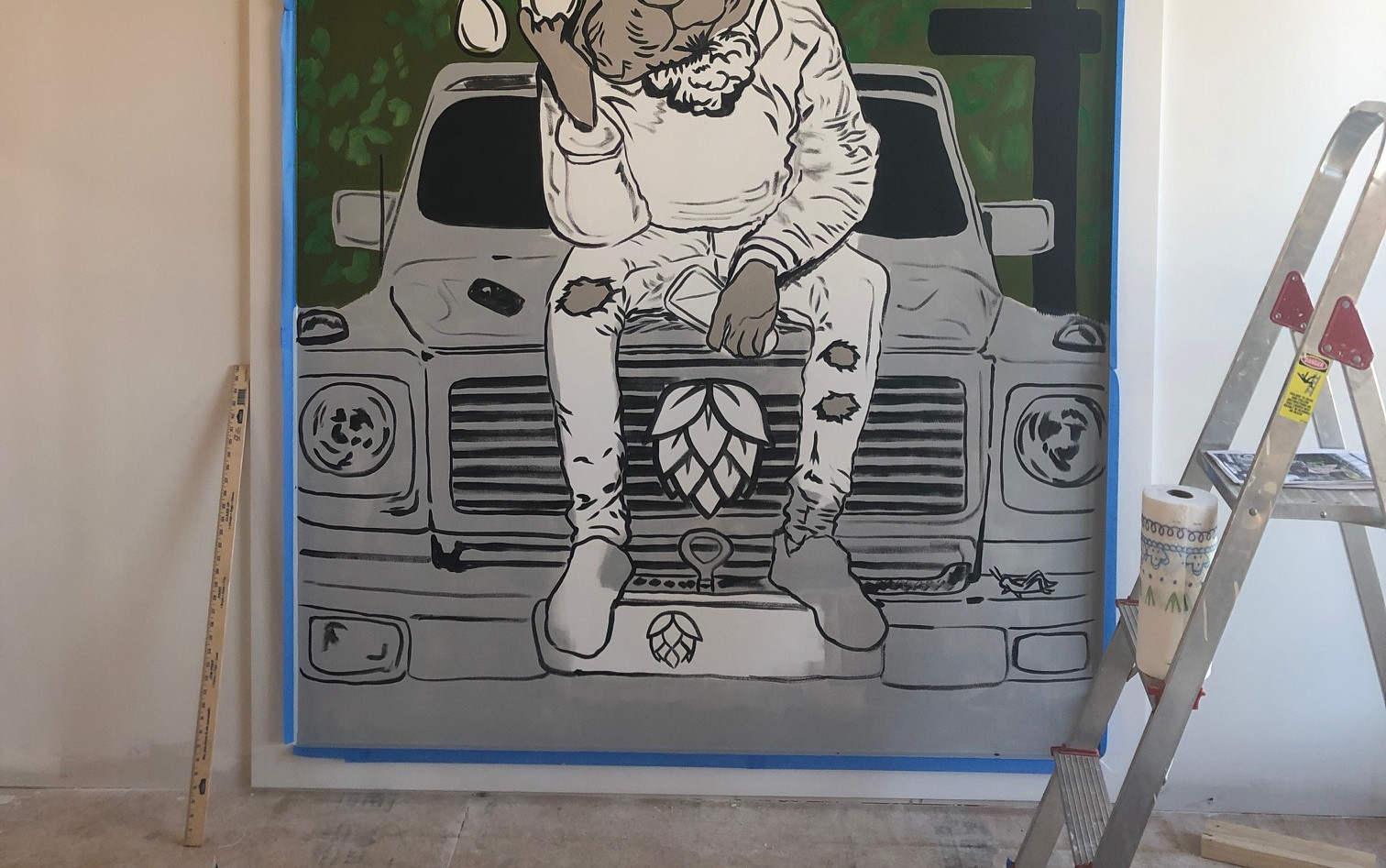 Hoppin' Mural x Lacey Hennessey