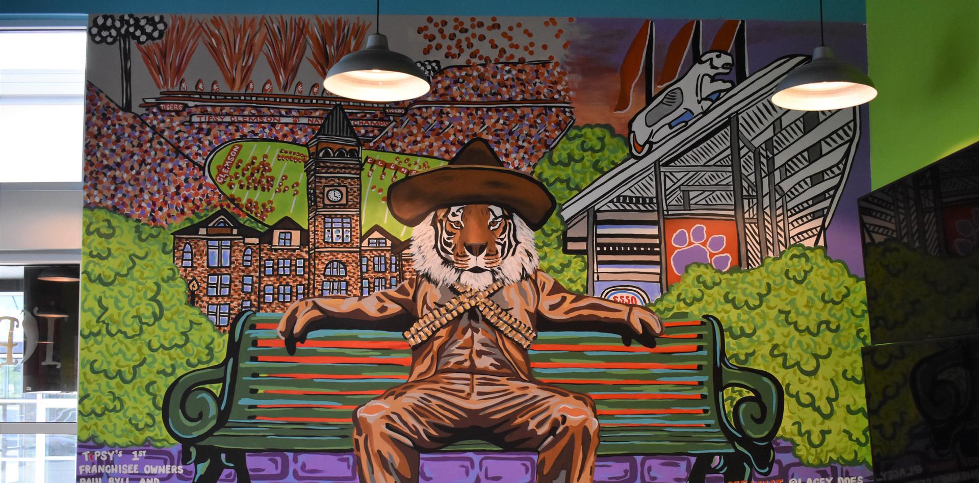 Tipsy Taco Clemson Mural