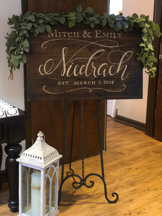 Wedding Signage - Greenville, SC