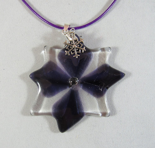 Purple and Clear Star or Ornament