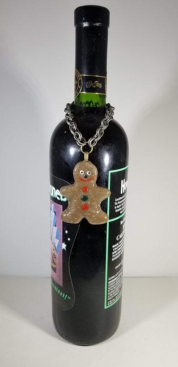Gingerbread Man Wine Bottle Critter