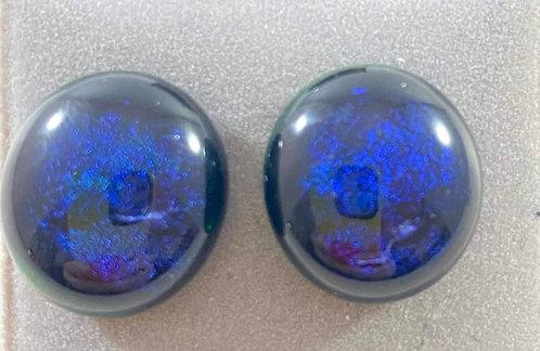 Blue Dichro Earrings