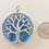 Thumbnail: Blue and Silver Tree of Life Pendant