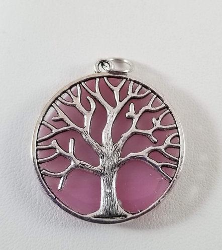 Pink Tree of Life Pendant