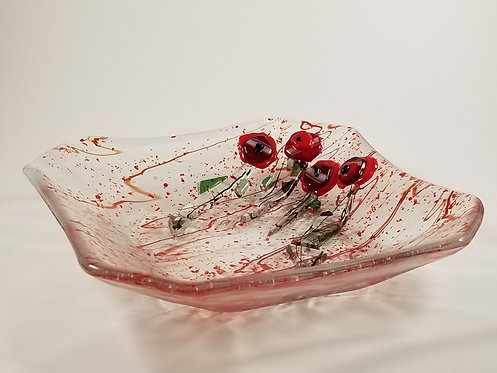 Poppies in a Field Bowl