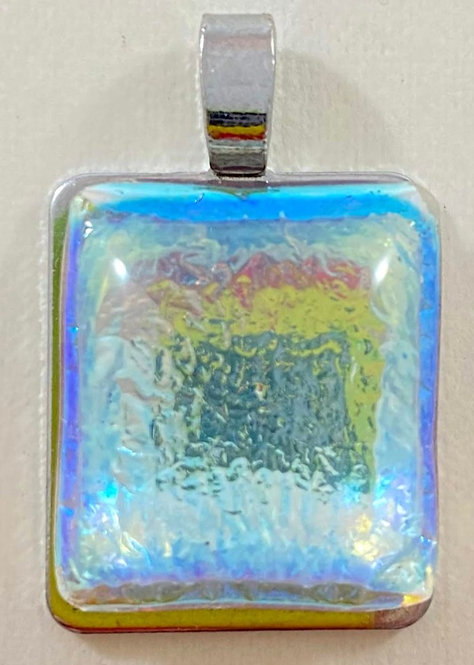 Sky Blue, Yellow and Red Dichro Pendant