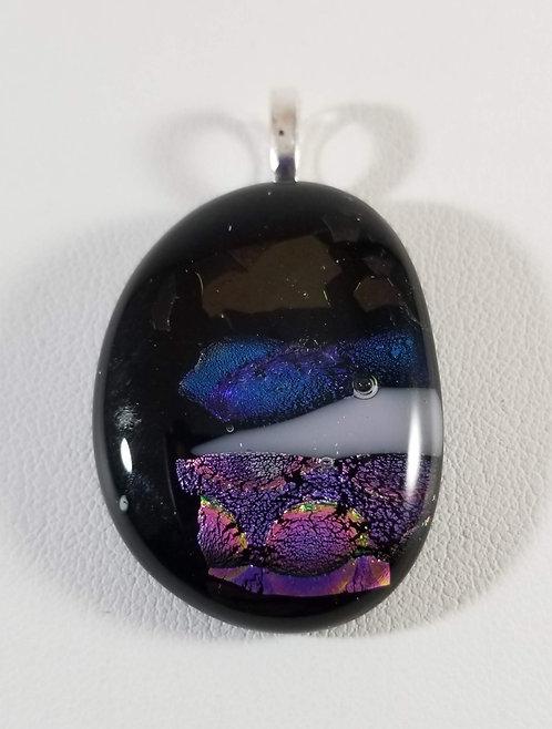 Purple, Blue and Gold Dichro Pendant