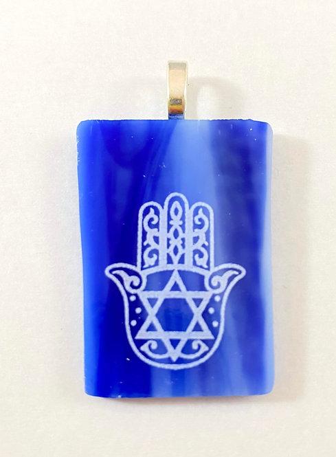 Hamsa with Jewish Star Pendant