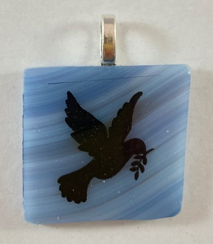 Flying Dove of Peace Pendant