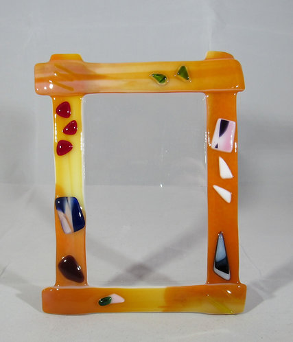 Speckled Yellow Picture Frame