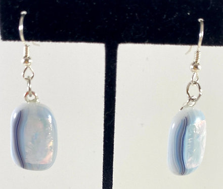 Blue Sparkly Hanging Earrings