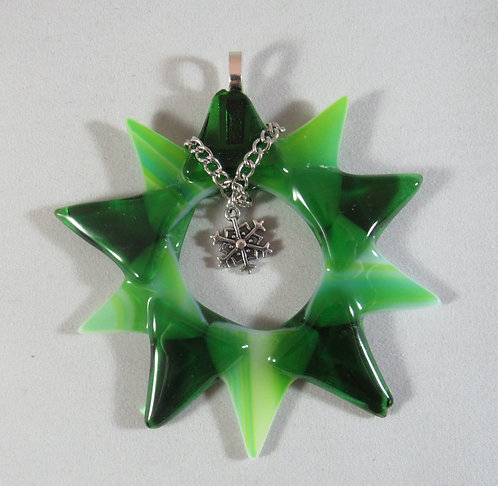 Green and Yellow Snowflake in a Star