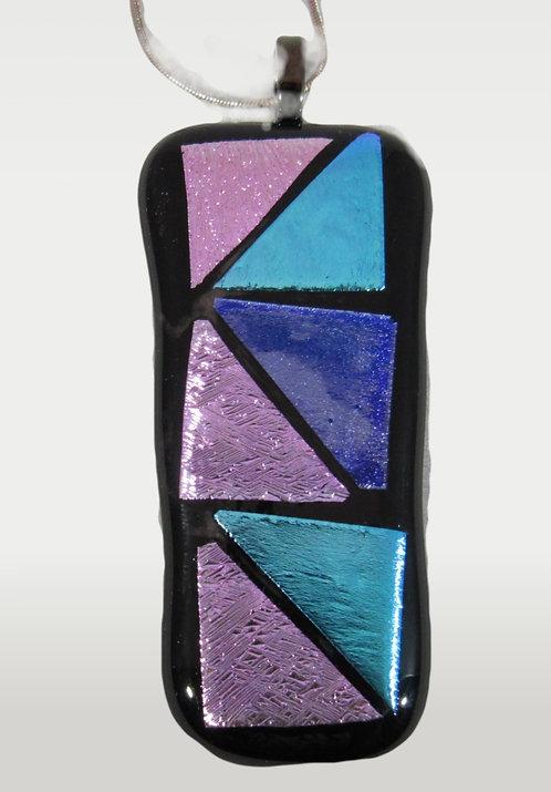 Purple & Teal Dichroic Pendant