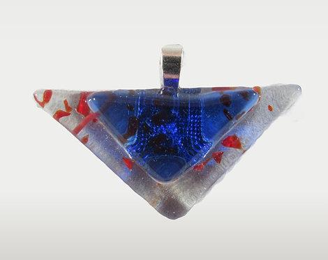 Clear Blue Triangle Pendant
