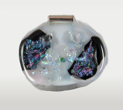 Black and White Sparkles Dichroic Pendant