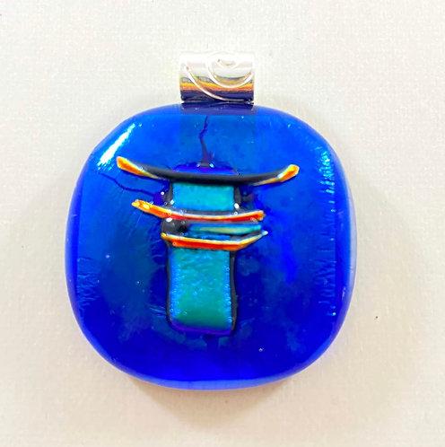 Blue Dichroic Pendant